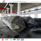 Bon gaz gardant les sacs à air en caoutchouc marins pour la traction de récipients