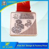 専門家はリボンが付いている亜鉛合金2D/3Dの銅のめっきされたメダルをカスタマイズした