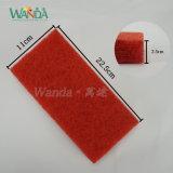 Красный пол полируя истирательную пусковую площадку буйволовой кожи