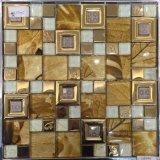 Acciaio inossidabile, vetro, il nero, oro, colore d'argento, mosaico di vetro della decorazione della parete (M655002)