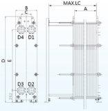 Type de plaque de rendement optimum de garniture de série de L100b (alpha égal Laval TL10) échangeur de chaleur pour le chauffage de vapeur