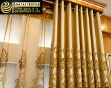 El telar jacquar de las cubiertas de ventana valida las cortinas escarpadas del dormitorio del OEM