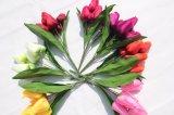 Fiori di seta dei tulipani di Artitficial di alta qualità per la decorazione domestica di cerimonia nuziale