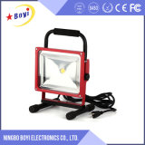 30W lumière rechargeable portative de travail du point bleu DEL