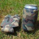 Het Bier van het Neopreen van Camo kan Koeler, de Gedrongen Houder van de Douane, Fles Koozie (BC0002)