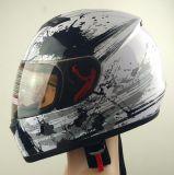 Motorrad-volles Gesichts-Sturzhelm im Weiß und im Schwarzen