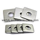 L'acier inoxydable 304 316 a rainé la rondelle carrée plate