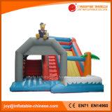 Preiswertes Teddybär-aufblasbares Plättchen-kombinierte Kinder, die federnd Schloss (T3-310, springen)