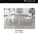 유리제 가구 유리 (YF-17010TA/17010B/170039T)를 가진 유리제 커피용 탁자 작은 유리제 둥근 커피용 탁자 우유 커피 테이블