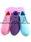 Zapatos ocasionales del deporte de los zapatos de lona de la inyección de las mujeres (FFZL1227-01)