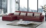 赤い現代ソファー、革ソファーの家具のソファー(HX-FZ040)