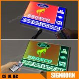 Caixa de luz retroiluminada LED de publicidade exterior usada