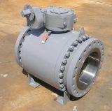 válvula de esfera montada eixo do corpo de Wcb da conexão da flange 150lb