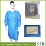 Vestido quirúrgico, paquetes de la torre con el embalaje de la bolsa de papel, esterilización del Eo