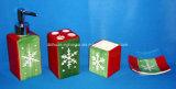 Reeks van de Ceramische Toebehoren van Badkamers 4 met de Doos van de Gift
