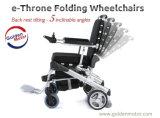 Кресло-коляска золотистого мотора электрическая с возлежит 5 положений, длинний ряд