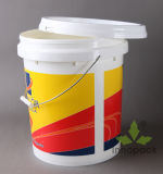 18 Liter-Lack-Wanne mit Kappen-Plastikeimer mit Griff