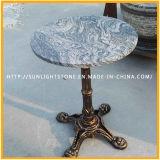 Parte superiore rotonda del tavolino da salotto della mobilia di pietra naturale Polished superiore del ghisa