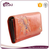 Бумажник повелительниц неподдельной кожи прибытия Fani новый Handmade