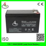 bateria acidificada ao chumbo recarregável livre do AGM da manutenção de 12V 7ah
