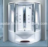 浴槽およびシャワー(AT-G8202F)との1350mmのセクターの蒸気のサウナ