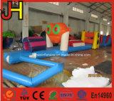 Obstáculo inflable de la piscina del obstáculo de la rana del tema inflable de la rana