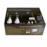 Jogo do sistema de iluminação da HOME da potência solar com a lâmpada de 2 bulbos