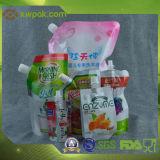 Sac chaud d'emballage de jus de Doypack de vente avec le premier bec