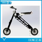 noir de luxe de mode pliant le scooter électrique