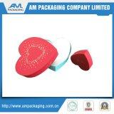 Caixa em forma de coração de chocolate fabricante caixa de papelão branco com divisores