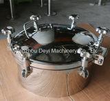 Tampas de câmara de visita do círculo da pressão do punho do aço inoxidável de D450mm