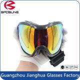 Anti occhiali di protezione grandangolari staccabili del pattino dello Snowboard della nebbia con il doppio obiettivo panoramico
