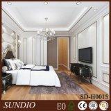 Moderno diseño de dormitorio de madera de alta calidad compuesto paneles de pared de revestimiento interior