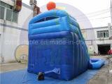 Corrediça de água comercial, fábrica inflável da corrediça direta