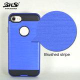 Shs escovou a caixa híbrida do telefone da listra para o iPhone 7