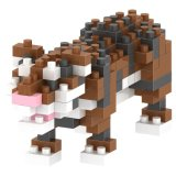 14889124-Micro Kit Bloque Bloques serie animal Conjunto educativo creativo de bricolaje juguete 150PCS - Tigre