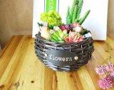 (BC-WF1007)純粋なハンドメイドの自然なヤナギの花のバスケット