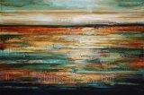 Peinture à l'huile abstraite pour des ondes de mer