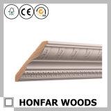 Moldeado de la corona de la madera dura del material de construcción