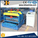 Kxd 1080 galvanizó el azulejo esmaltado el material para techos de acero que formaba la maquinaria