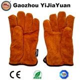 Перчатки кожаный зимы предохранения от руки безопасности теплые для управлять