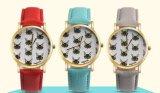 Señora relojes del cuarzo del acero inoxidable del diamante de la configuración nueva