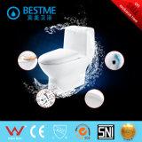 Sanitarios WC occidental con cubierta de asiento de liberación rápida (BC-1024A)