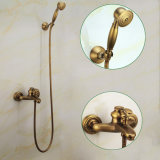 Flg Bath Shower Set com Faucet Antique Finish Cold and Hot