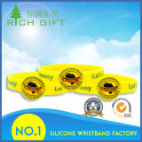 Braceletes de borracha coloridos dos Wristbands/do silicone com logotipo personalizado da forma