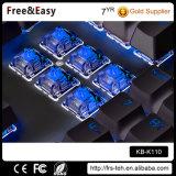Tastiera meccanica collegata indicatore luminoso del LED