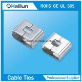 Serre-câble enduit d'époxyde de boucle d'acier inoxydable