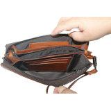 Borsa multifunzionale dell'olio del cuoio del Brown di colore della borsa superiore della chiusura lampo
