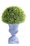 Topiary artificial Rosemary en la urna de papel de Mache para la decoración al aire libre/de interior