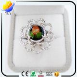 Rhodium van de bloem plateerde de Ring van de Juwelen van CZ van de EpoxyHars